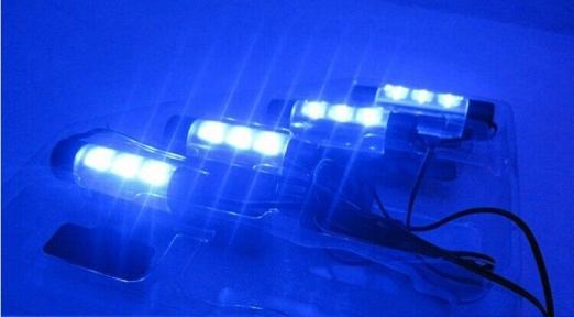 Декоративная 4x3 LED подсветка салона автомобиля