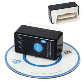 Bluetooth OBD2 ELM 327 с кнопкой адаптер диагностики (ЕЛМ)
